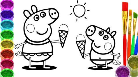 imagenes para pintar infantiles dibujos de peppa pig para colorear videos para ni 241 os