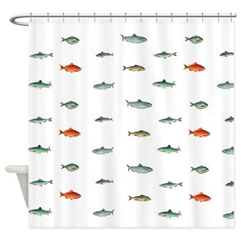 fish shower curtain nautical ocean fish shower curtain by inspirationzstore
