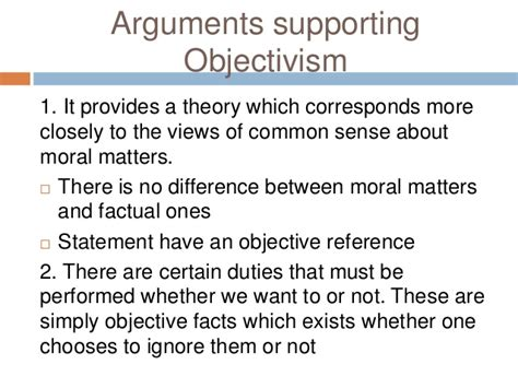 to what extent do moral statements objective meaning lecture 10 subjectivist objectivism emotivism