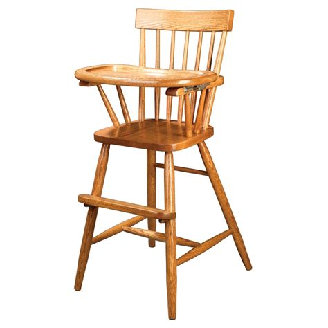 Wooden High Chairs For Babies by Amish Comback Baby High Chair Made In Usa Solid Wood M Oh
