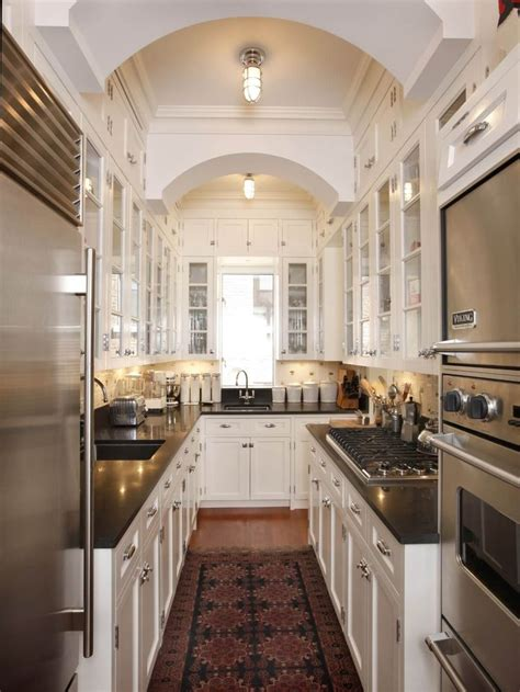 narrow galley kitchen ideas 2621 best kitchen for small spaces images on pinterest