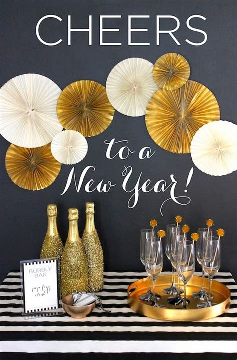 golden new year s decoration ideas