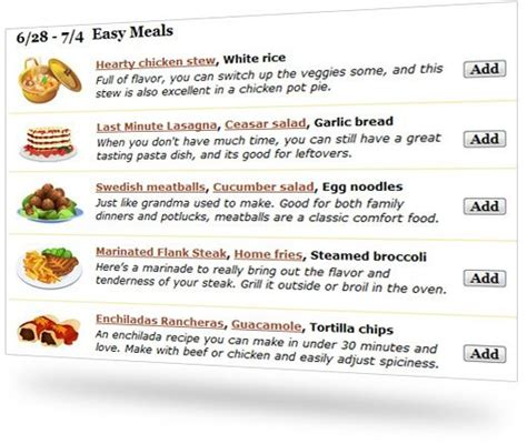 image gallery meal planning ideas say mmm organize favorite recipes
