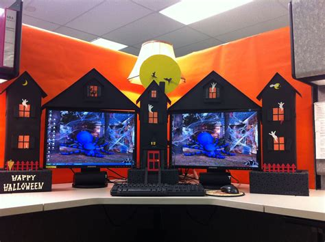 halloween themes for the office my cubicle workspace built by my clever husband
