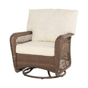 Swivel Wicker Patio Chairs Martha Stewart Living Charlottetown Brown All Weather