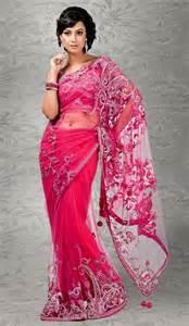 pink net indian fashion saree cote mode