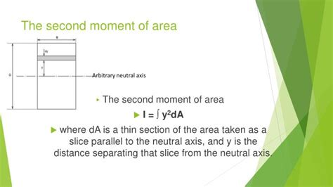 second moment of area i section ppt load on beams powerpoint presentation id 7521713