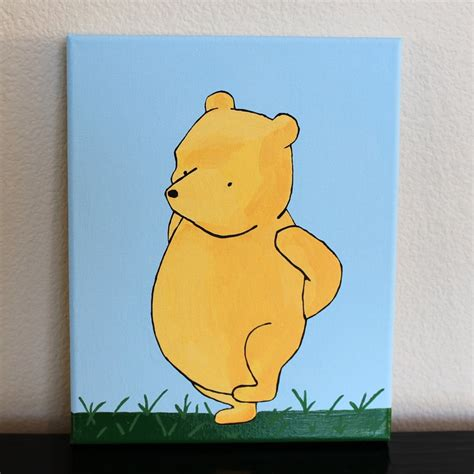 winnie the pooh painting original acrylic painting classic winnie the pooh