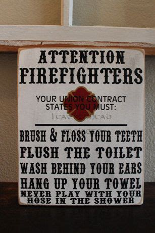 makeable gifts for boyfriend firefighter bathroom sign by leatherhead on etsy quot fashion gifts foods that i