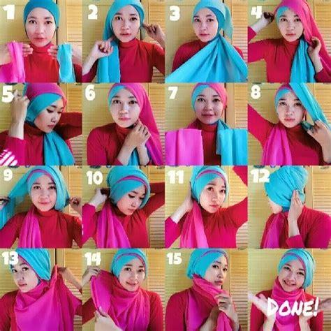 tutorial hijab turban kombinasi 2 warna 1000 images about hijab on pinterest square hijab