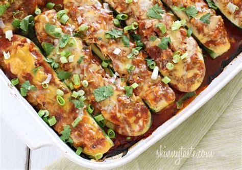 skinnytaste zucchini boats chicken enchilada stuffed zucchini boats skinnytaste