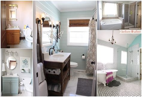 Small Bathroom Makeover Pictures by 20 Beautiful Before And After Bathroom Makeovers