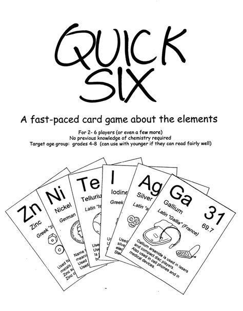 printable periodic table game periodic table of elements game bulletin boards