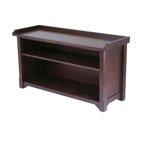 winsome storage bench winsome wood milan storage bench 94640