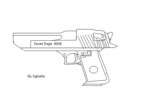 Desert Eagle Outline by Desert Eagle Outline