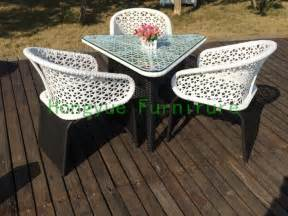 White Patio Furniture Sets by Outdoor White Rattan Furniture Set Rattan Outdoor