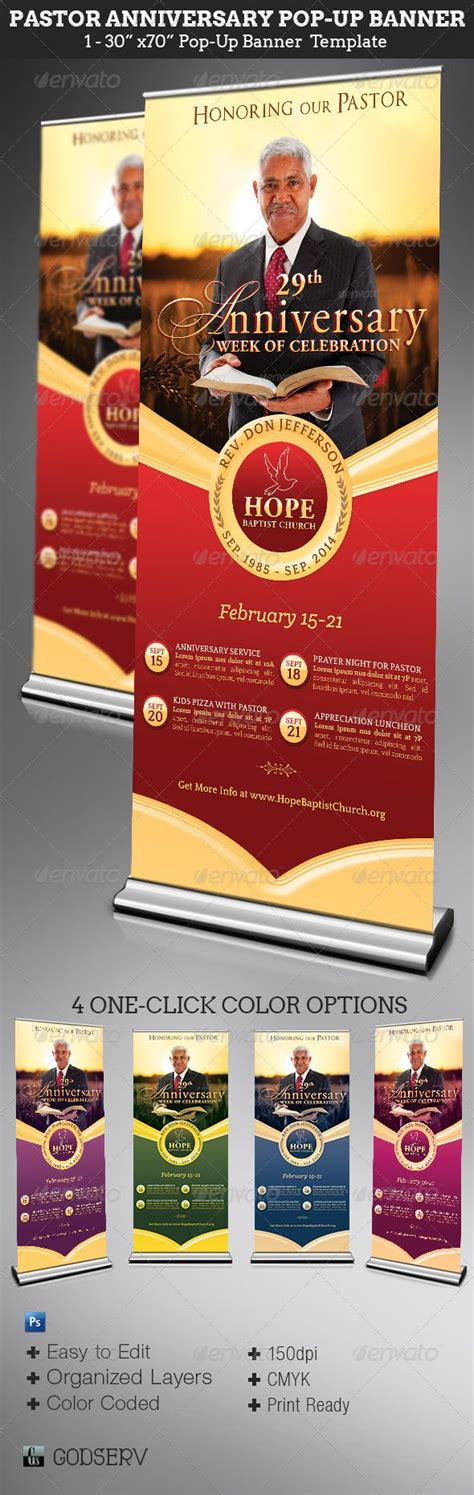 templates for church banners pastor anniversary pop up banner template anniversary