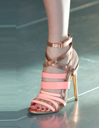 New Arrival Best Seller Sandal Chanel 1128 2 antonio berardi pink gold shoe lfw14 imaxtree ga