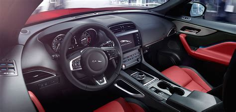 jaguar f pace inside jaguar f pace suv build interior design features
