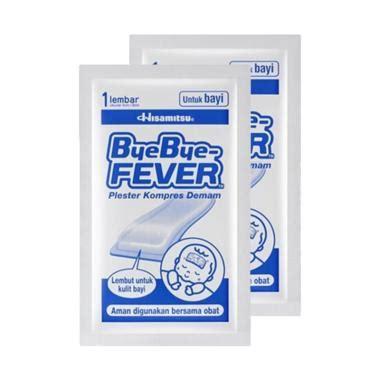 Obat Demam Anak Baby Fever Free 1 Patch jual bye bye fever for baby plester penurun demam isi 1 2 pcs harga kualitas