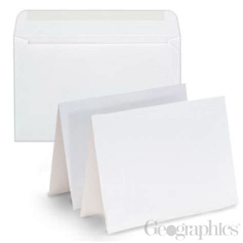 printable blank greeting cards with envelopes 44545 blank white matte greeting cards w envelopes geographics