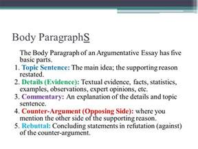 Exles Of Topic Sentences For An Essay by The Argumentative Essay Ppt