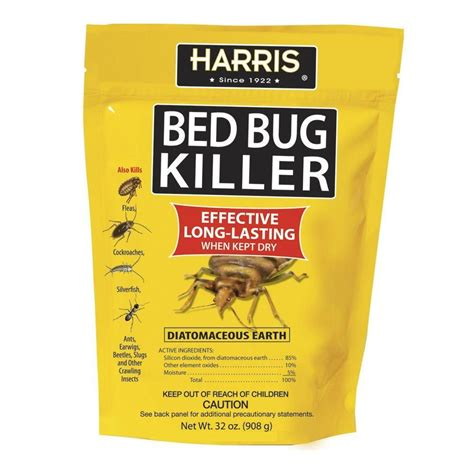 harris  oz diatomaceous earth bed bug killer earth cleaning  helpful hints