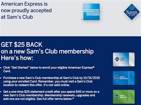 Can A Sam S Gift Card Be Used At Walmart - sam s club now accepts american express one mile at a time