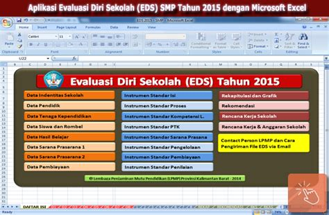 Format Evaluasi Diri Sekolah 2016 | aplikasi evaluasi diri sekolah eds smp tahun 2015 dengan