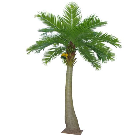 Artificial Outdoor Topiary - 5 5m artificial coconut tree with 20 leaves dongyi