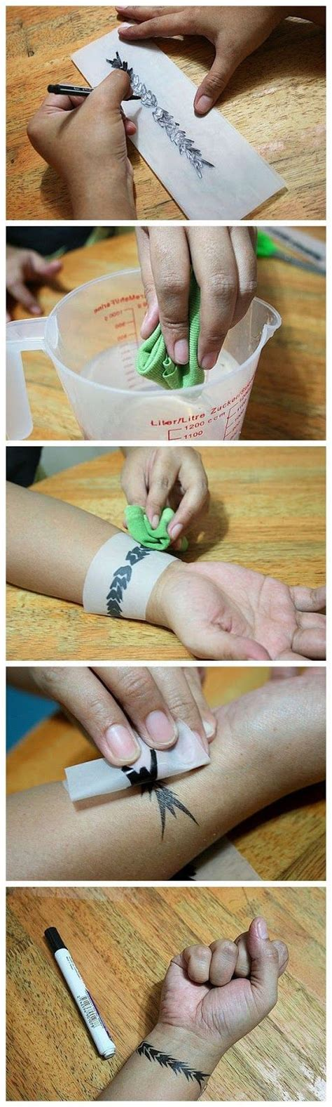 pen tattoo tutorial make a temporary tattoo design good ideas and cloths