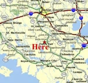 Louisiana Bayou Map by Cajun Cabins Of Bayou Corne Louisiana