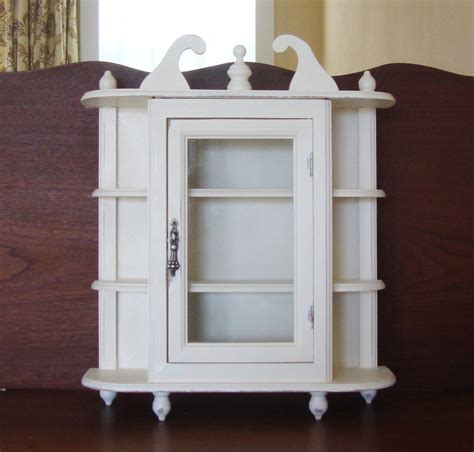White Curio Wall Cabinet by Wall Cabinet Hanging Cabinet Curio Cabinet White Shabby