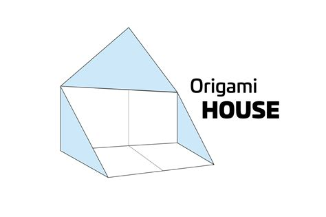 How To Make House Origami - how to make a simple origami house
