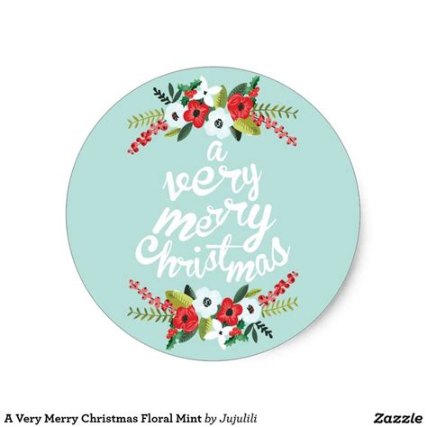 Aufkleber Frohe Weihnachten by Merry Stickers Holidays Wizard
