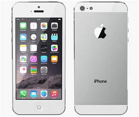 apple iphone 5 all color 3d model cgtrader