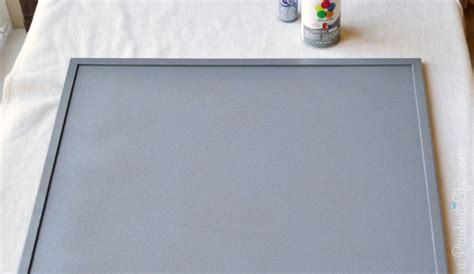 spray painter cork cork board upgrade drab to fab craft room project 3