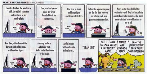 pearls for the dear books pearls before swine on the importance of character names