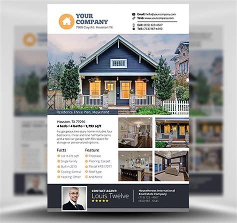 marketing real estate flyer template real estate ref realtor flyer