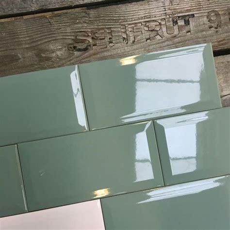wandtegel keuken wandtegel metro 10x20 oud grijs groen glans voor in de