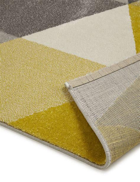tapis jaune et gris 3583 tapis design pas cher