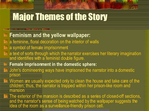 themes in feminist literature yellow wallpaper feminist essay