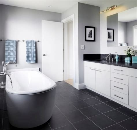 dark tile bathroom ideas how to use dark floors to brighten your dull home
