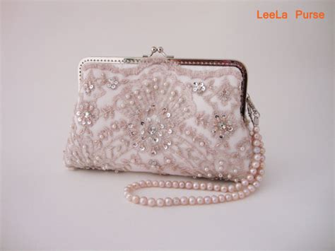 Vintage Inspired Clutches by Lace Bridal Light Pink Clutch Wedding Vintage Inspired