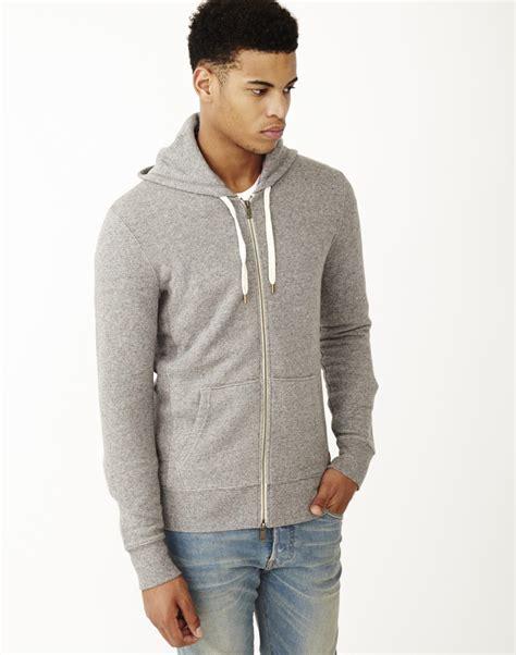 Hoodie Sidemen Grey Ken21 1 levi s original zip up hoodie medium grey in gray for lyst