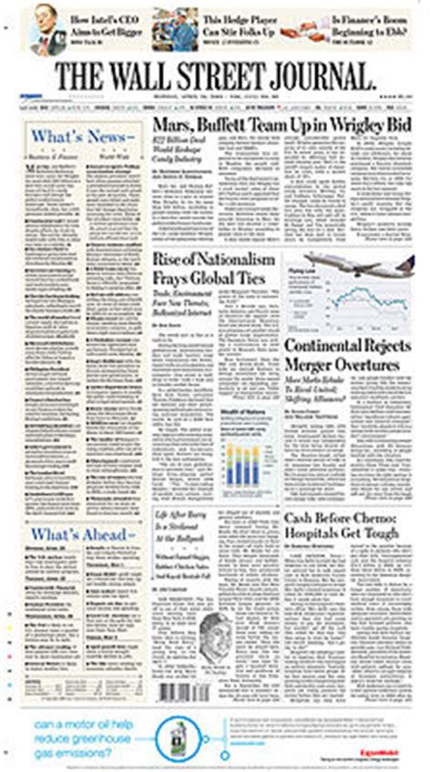 wall street journal sections gigaom wsj moves special sections online adds expert