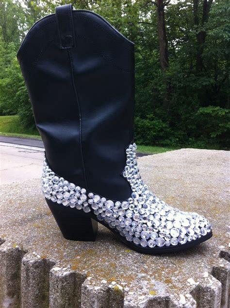 rhinestone cowboy boots custom embellished rhinestone cowboy boots by