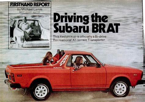 1978 subaru brat for first page of the subaru brat article in the march 1978