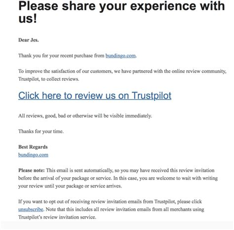 How To Get The Most Out Of Asking For Customer Feedback Trustpilot Blog Ask For Review Email Template