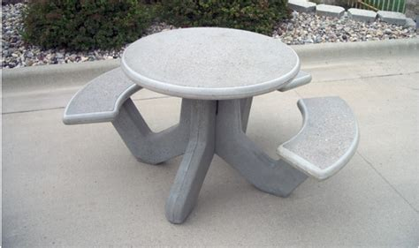 concrete table and benches price round precast concrete picnic table barco products